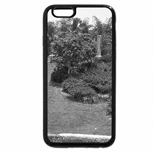 iPhone 6S Plus Case, iPhone 6 Plus Case (Black & White) - Green Garden