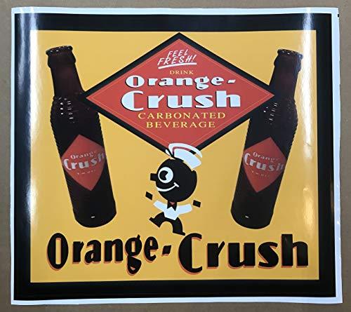 "ORANGE CRUSH SODA ADVERTISING DECAL APPROXIMATELY 12"" WIDE"