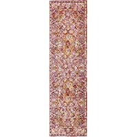 Unique Loom Aria Collection Red 3 x 10 Runner Area Rug (2 7 x 9 10)