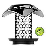 Betheaces Drain Hair Catcher Protector Strainer, Tub Bathroom Shower Sink Bathtub Drain Cover Plug Fast Water 304 Stainless Steel Anti-Rust and No Mold Support Drain Sizes from 1.35''to 1.75''