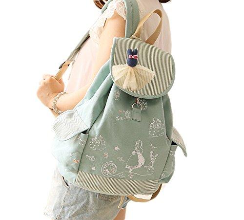 Back to School Skirt Doll Cartoon Girl Backpack Canvas Ca...
