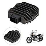 INNOGLOW Motorcycle Voltage Regulator Rectifier Aluminum Accessories Replacement Assembly for Yamaha XVS1100 XVS650 YZF R6 Grizzly 600 Kodiak 450 Rhino 450/660 WR250R TMAX XP500 FZ6R