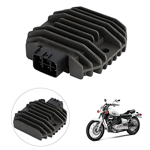 INNOGLOW Motorcycle Voltage Regulator Rectifier Aluminum Accessories Replacement Assembly for Yamaha XVS1100 XVS650 YZF R6 Grizzly 600 Kodiak 450 Rhino 450/660 WR250R TMAX XP500 FZ6R by INNOGLOW