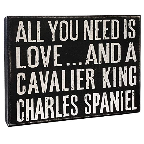 Cavalier King Charles Spaniel Gifts - JennyGems - All You Need is Love and a Cavalier King Charles Spaniel - Wooden Sign, Cavalier King Charles Spaniel Moms, Lovers, Dogs, Accessories, Gifts
