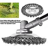 Decsix 8 Inch Grass Cutter Steel Wire Brush Cutter