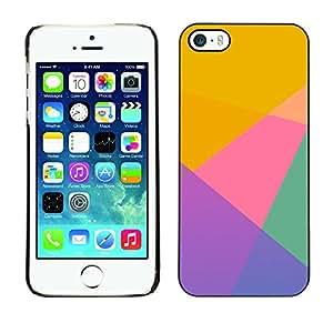MOBMART Carcasa Funda Case Cover Armor Shell PARA Apple iPhone 5 / 5S - Beautiful Light Colors