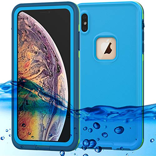 (iPhone Xs Max Waterproof Case Support Wireless Charging iPhone Xs Max Waterproof Shockproof Dirt-Proof Full-Body Rugged Cover with Built-in Screen Protector for Apple iPhone Xs Max 6.5 inch)