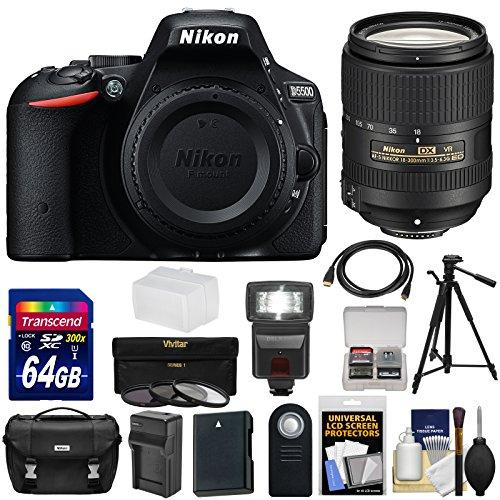 nikon-d5500-wi-fi-digital-slr-camera-body-black-with-18-300mm-vr-lens-64gb-card-case-battery-charger