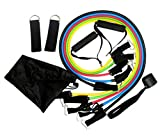 Skirei 11PCs Resistance Band Set For Exercise: Door Anchor, Handles, Ankle Straps For Fitness,Strength Training,Body shaping And Weight loss