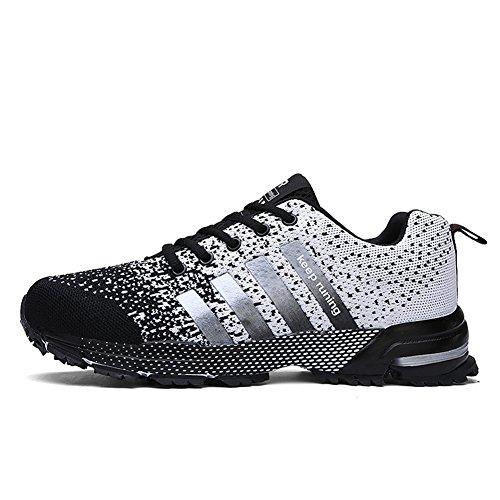 Uomo Donna Sneakers All'aperto Scarpe Trekking Ginnastica Estive Trail Sollomensi Corsa Sportive Running Grigio Fitness Da Basse Casual wqIgzx4t