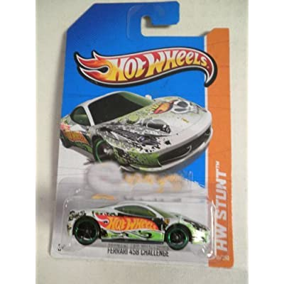 HOT WHEELS 2013 HW STUNT #81/250 FERRARI 458 CHALLENGE WHITE WW CARD: Toys & Games