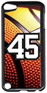 Basketball Sports Fan Player Number 45 Black Plastic Decorative iPod iTouch 5th Generation Case