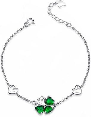 bracelet argent porte bonheur femme