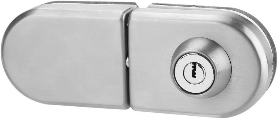 Cerradura de la puerta de vidrio Cerradura de seguridad antirrobo de acero inoxidable para 10mm -12mm Espesor Doble Oscilación Con Bisagras Puerta deslizante de empuje sin marco