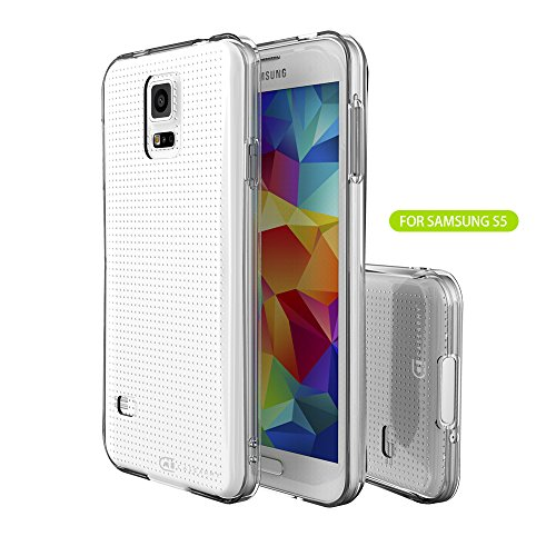 Samsung Galaxy S5 Clear Case, Case Army Scratch-Resistant Slim Clear Case Soft TPU for Samsung Galaxy S5 Hard Shell Back Soft Sides TPU Bumper Rubber Crystal Clear cover (Limited