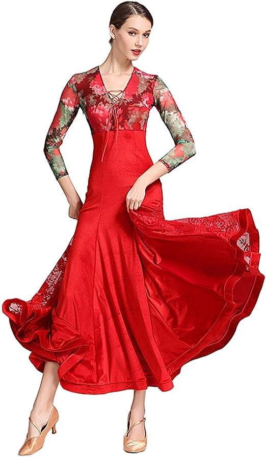 JIANPING Vestido de Baile Falda de Baile Moderna para Mujer ...