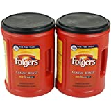 Folgers Classic Medium Roast Coffee, 2-Pack of 48 Ounce Cans