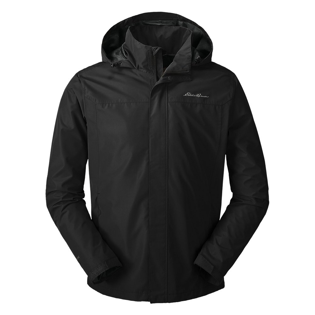 Eddie Bauer Men's Rainfoil Packable Jacket, Black Regular M