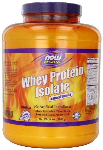 NOW Foods Whey Protein Isolate Natural Vanilla, 5 Pounds, Health Care Stuffs