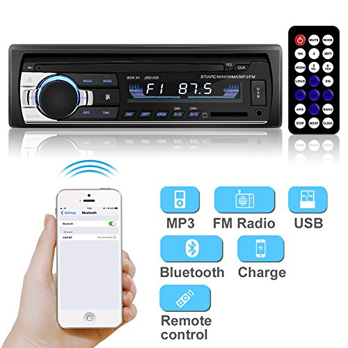 YOHOOLYO Car Stereo Audio FM Receiver In-Dash Single Din Car Radio with Remote Control