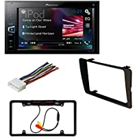 HONDA 2001 - 2005 Civic Non SI Models Car Dash Install Mounting Trim Bezel Panel Kit + Harness + Cache Rear View Mini Camera Pioneer MVH-AV290BT 6.2 Double-DIN A/V Receiver with Bluetooth