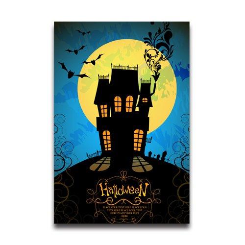 Goblin Costume Uk (Halloween Decor Full Moon Poster 20x30 Inch Poster Wall Sticker)