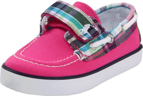 Polo by Ralph Lauren Sander EZ Sneaker (Toddler/Little Kid),Hot Pink/Pink Plaid Canvas,6 M US Toddler