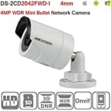 Hikvision IP Camera 4MP DS-2CD2042WD-I 4mm IR Bullet Network Mini Camera ONVIF H.264 English Version Support Upgrade