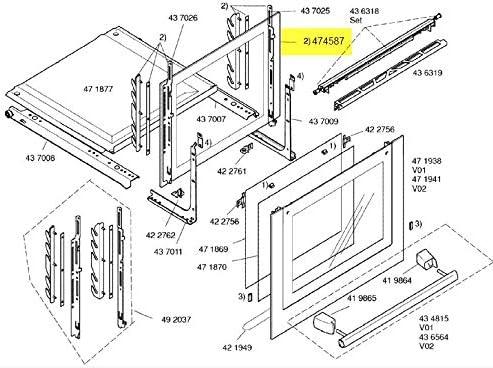 Siemens – Cristal Interieure puerta corredera – 00474587: Amazon ...