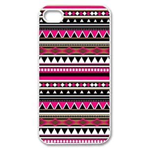 Customized Cover Case with Hard Shell Protection for Iphone 4,4S case with Striped Plaid Style lxa#386187