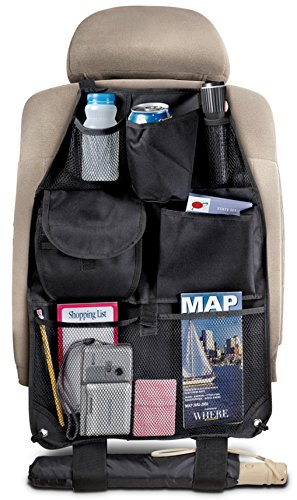 Perfect Life Ideas Backseat Organizer Car - Holds Garbage Trash Maps Baby Children Toys - Auto Interior Accessories