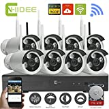 CNHIDEE Wireless CCTV NVR KIT CCTV System WIFI IP Camera Surveillance HD 960P Outdoor 8CH WIFI Security Camera System with 1T HDD