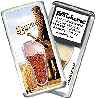 """product image for Memphis """"FootWhere"""" Souvenir Magnet (MP202 - The King)"""