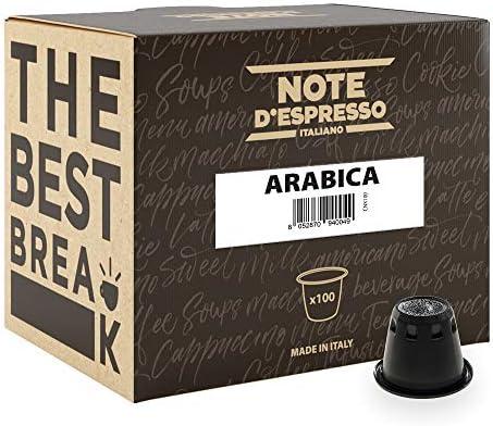 Note D'Espresso Arabica Caffè in Capsule esclusivamente Compatibili con Sistema Nespresso* – 560 g (100 x 5.6 g)