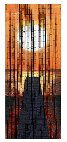 Wenko 819111500 Bambusvorhang Sonnenuntergang, Bambus, mehrfarbig, 200 x 90 x 0.2 cm