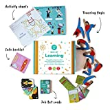 Shumee Box of Learning for Preschoolers - Wooden Balance Toy Set, Cards Game and 2 Activity Sheets (Activity Box for 4 Years Old+)