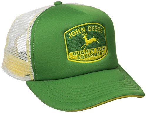 John Deere Embroidered Logo Mesh Back Foam Trucker Hat - One-Size - Men's (Foam Mesh Hats)