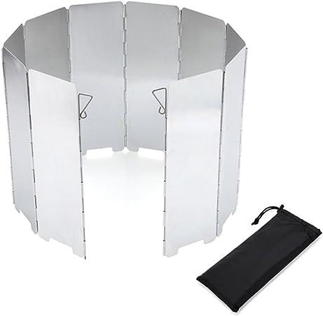 aiu Outdoor Stove Wind – 10 Unidades plegable aluminio ...