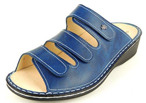 Finn Comfort - Zuecos de Piel para mujer Azul azul Azul - Bluette