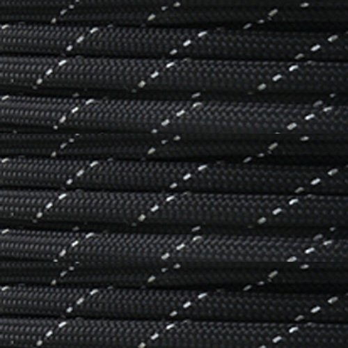 Paracord Planet Reflective Paracord Made of 100% Nylon With 7 Inner-core Strands Available In 10, 25, 50, and 100 Foot Lengths That is Made in the USA