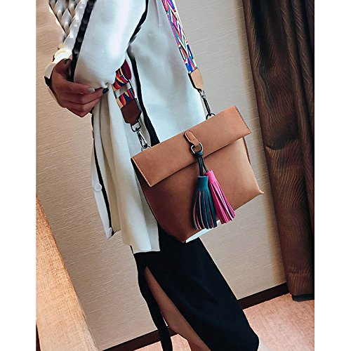 Col3 For Strap Donalworld Bag PU Colorful Purse Leather Bag Crossbody Women qvn1PBxFfw