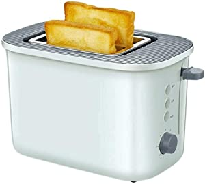 LUNAFJ Simplicity Touch One Touch Toaster 2 Slice Household Kitchen Breakfast Spit Driver Compact Brushed Stainless Steel Toasters Removable Crumb Tray Adjustable