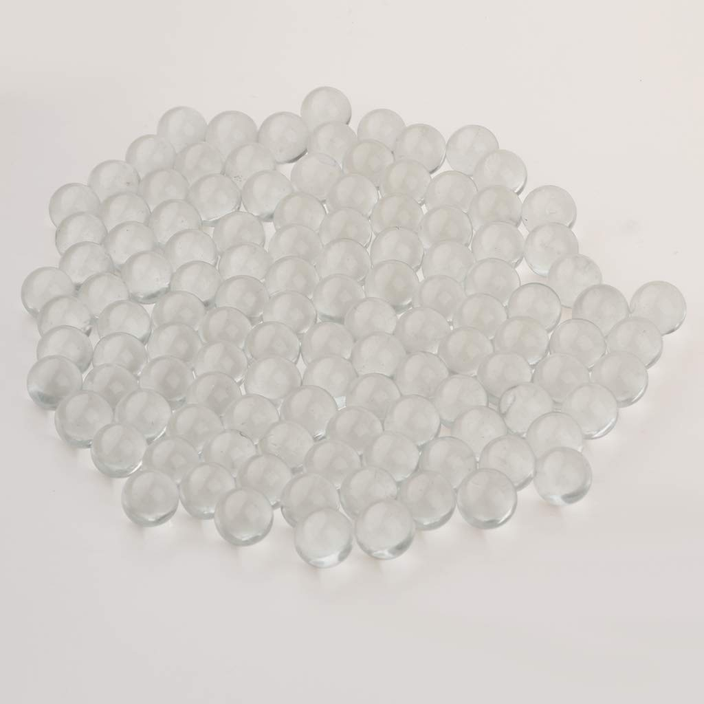 Vase Filler Jewelry Making Perfect for Chinese Checkers Pack of 100 Fish Tank Aquarium Decor MagiDeal 13mm Clear Marbles Bulk Kids Game