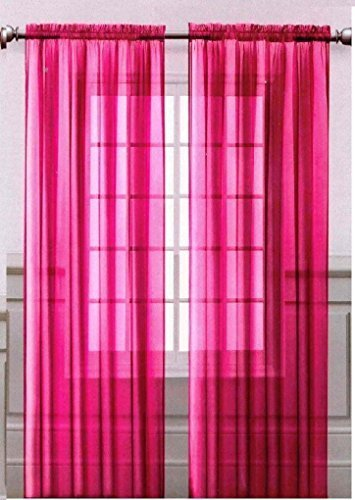 Pink Sheer Curtains Amazon Com
