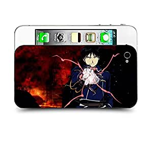 Case88 Designs Fullmetal Alchemist Brotherhood Roy Mustang Protective Snap-on Hard Back Case Cover for Apple Iphone 4 4s