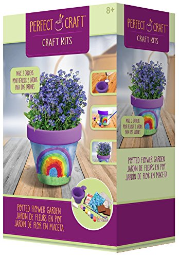 """Skullduggery Perfect Craft Award Winning Cast & Paint 3.25"""" Flower Pot Kit with Perfect Cast Casting Material and Reusable Mold"""