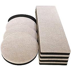 """8-Pack Felt Furniture Slider for Hard Surfaces, 4-Pack 9"""" X 2.5"""" Reusable Rectangle Felt Furniture Sliders and 4 Pack- 3.5"""" Felt Furniture Movers,Furniture Mover, Premium Furniture Moving Sliders"""