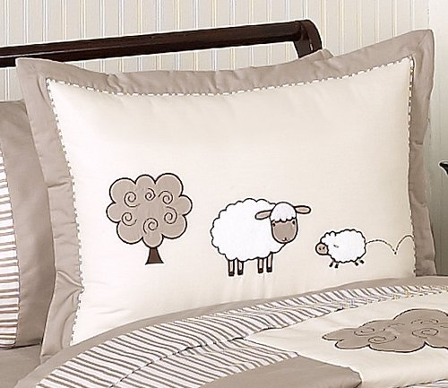 Sweet Jojo Designs 4-Piece Little Lamb Children's and Kids Bedding Girl or Boy Twin Set
