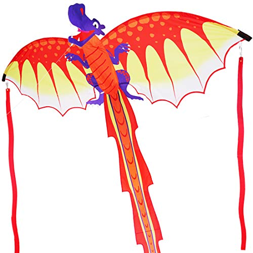 Zhuoyue Kite - Supersize 3D Dragon Kites for Adults, Easy to Fly Kite for Kids Rispstop Nylon Kite Beach Park and Outdoor Games Toys