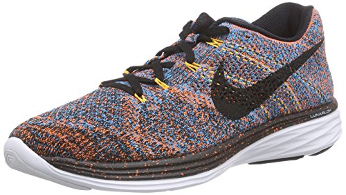 Nike Womens Flyknit Lunar3 Scarpe Da Corsa Total Orange / Black / Blue Laguna / Laser Orange